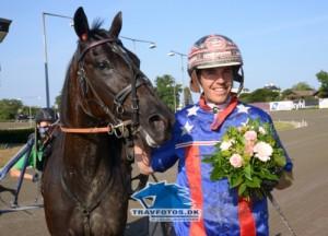 En glad mand - Kasper K Andersen  efter sin tredje dagssejr, der blev vundet med Global Ride.