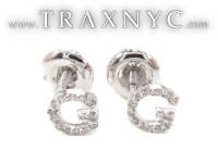 Prong Diamond Initial 'G' Earrings 32635 Ladies Style ...