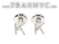 Prong Diamond Initial 'K' Earrings 32645 Ladies Stone ...