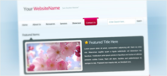 Web Layout with 3D Elements