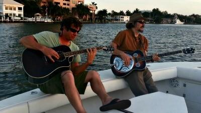 Les Claypool Dean Ween fishing in Fort Lauderdale
