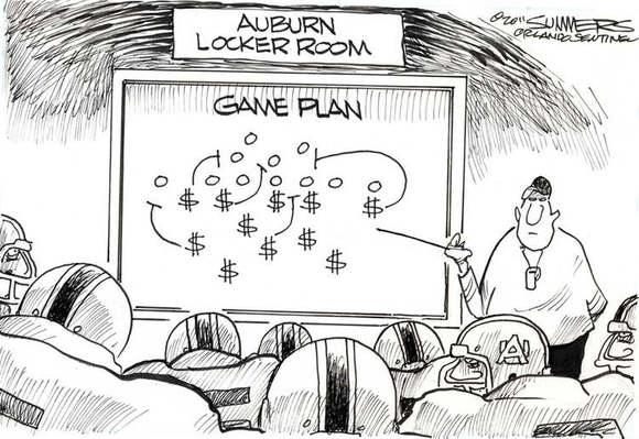 Auburn football scandal: Cartoon spoofs Auburn football