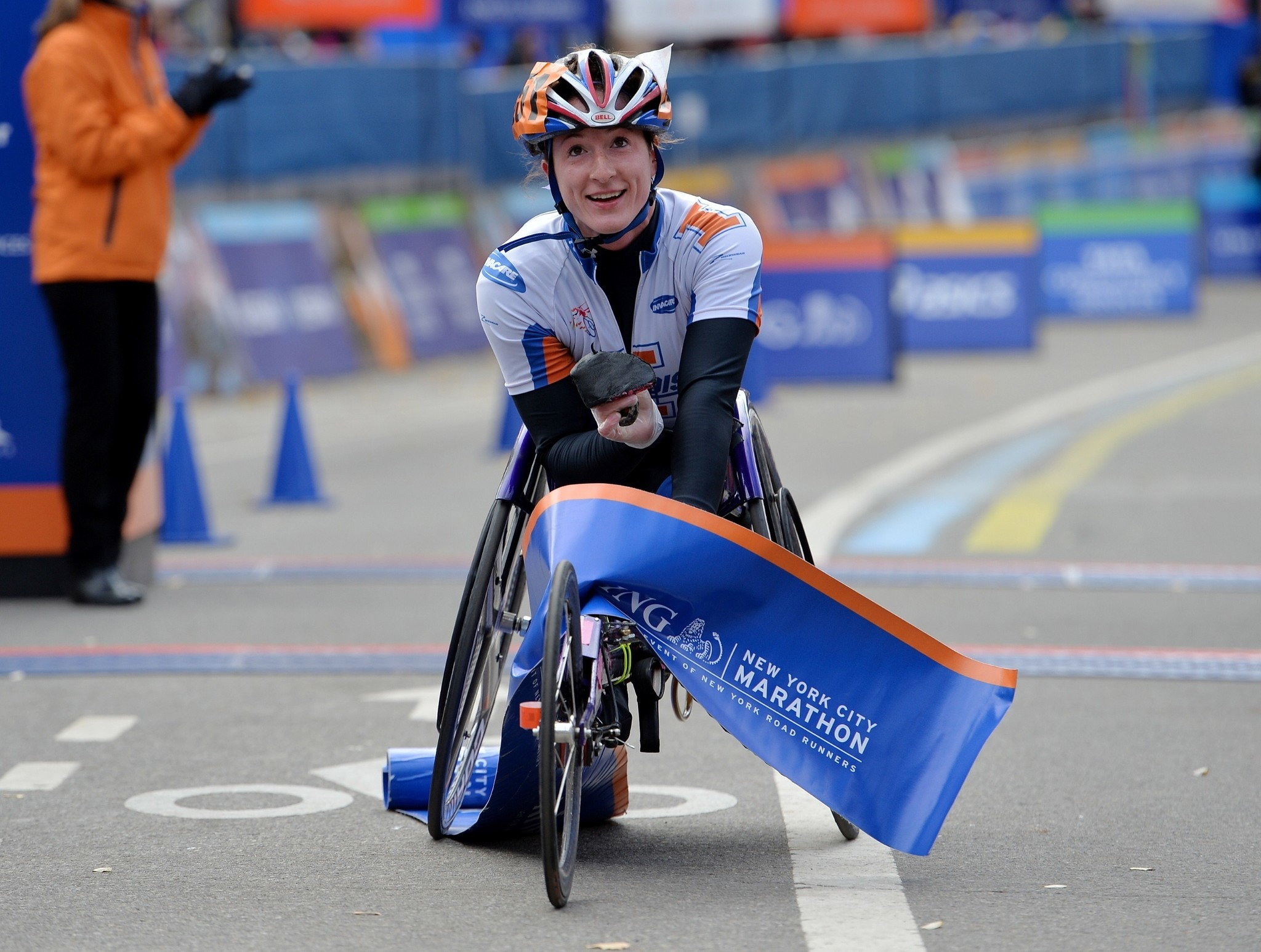 wheelchair marathon revolving chair ahmedabad hot wheels mcfadden gets grand slam