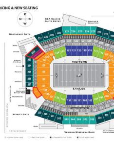 This map shows the eagles  new ticket pricing and added seats at lincoln financial field also adding adjusting prices tribunedigital mcall rh articlesall