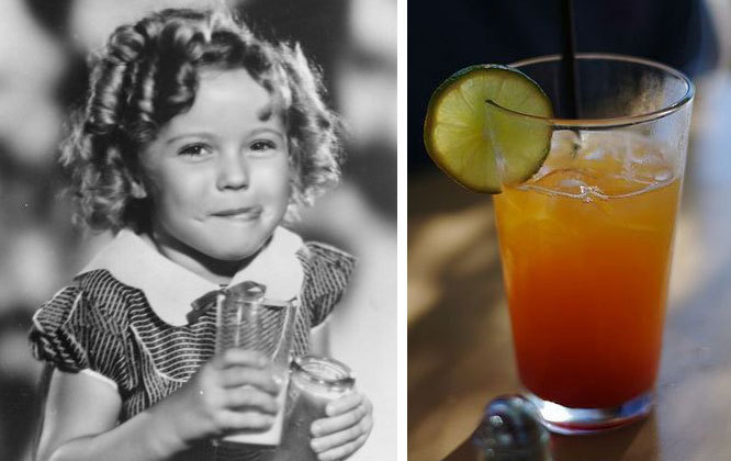Shirley Temple and other drinks named after famous people