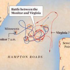 Monitor Versus Merrimack Diagram 1995 Toyota Camry Belt Interactive Battle Of Hampton Roads Map Uss Css Virginia Daily Press