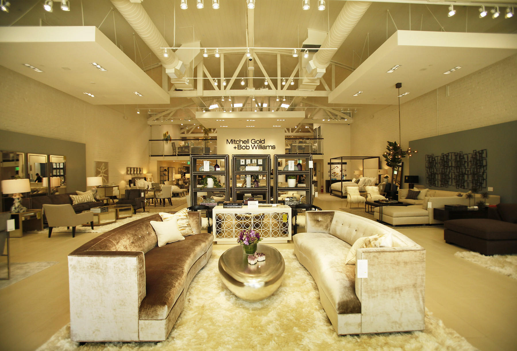 pottery barn windsor chair revolving dining mitchell gold + bob williams showroom opens in beverly hills - latimes