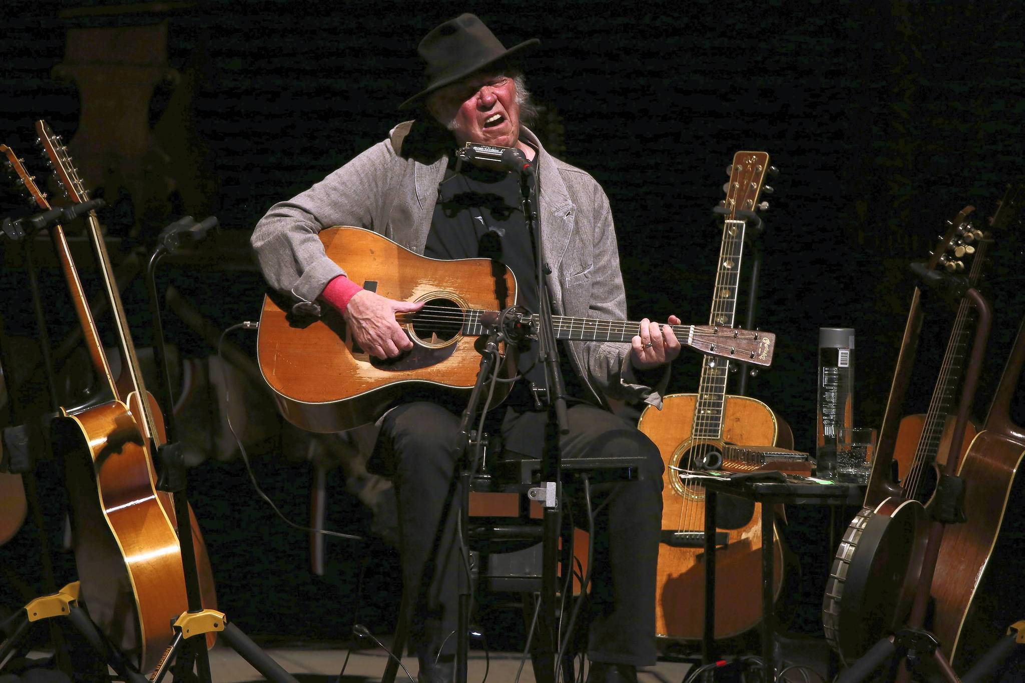 Photos Neil Young At Chicago Theatre Chicago Tribune
