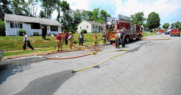 Fire hits two homes in Aberdeen on Monday  Baltimore Sun