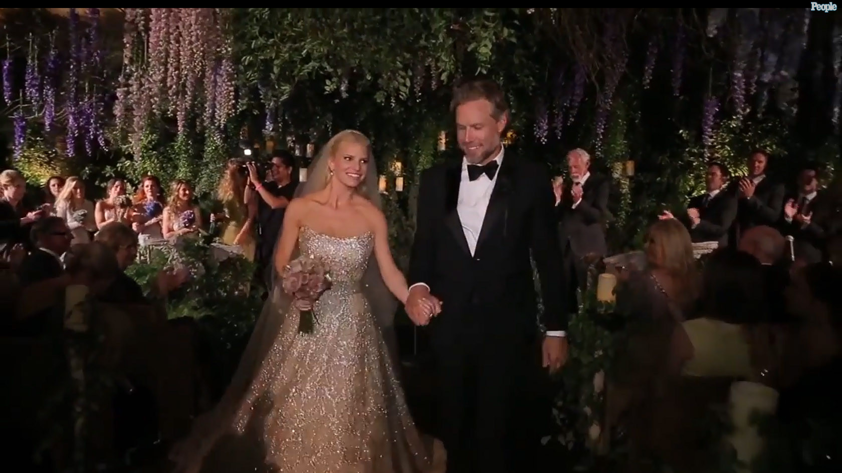 Jessica Simpsons wedding video shows off elegant fun affair  LA Times