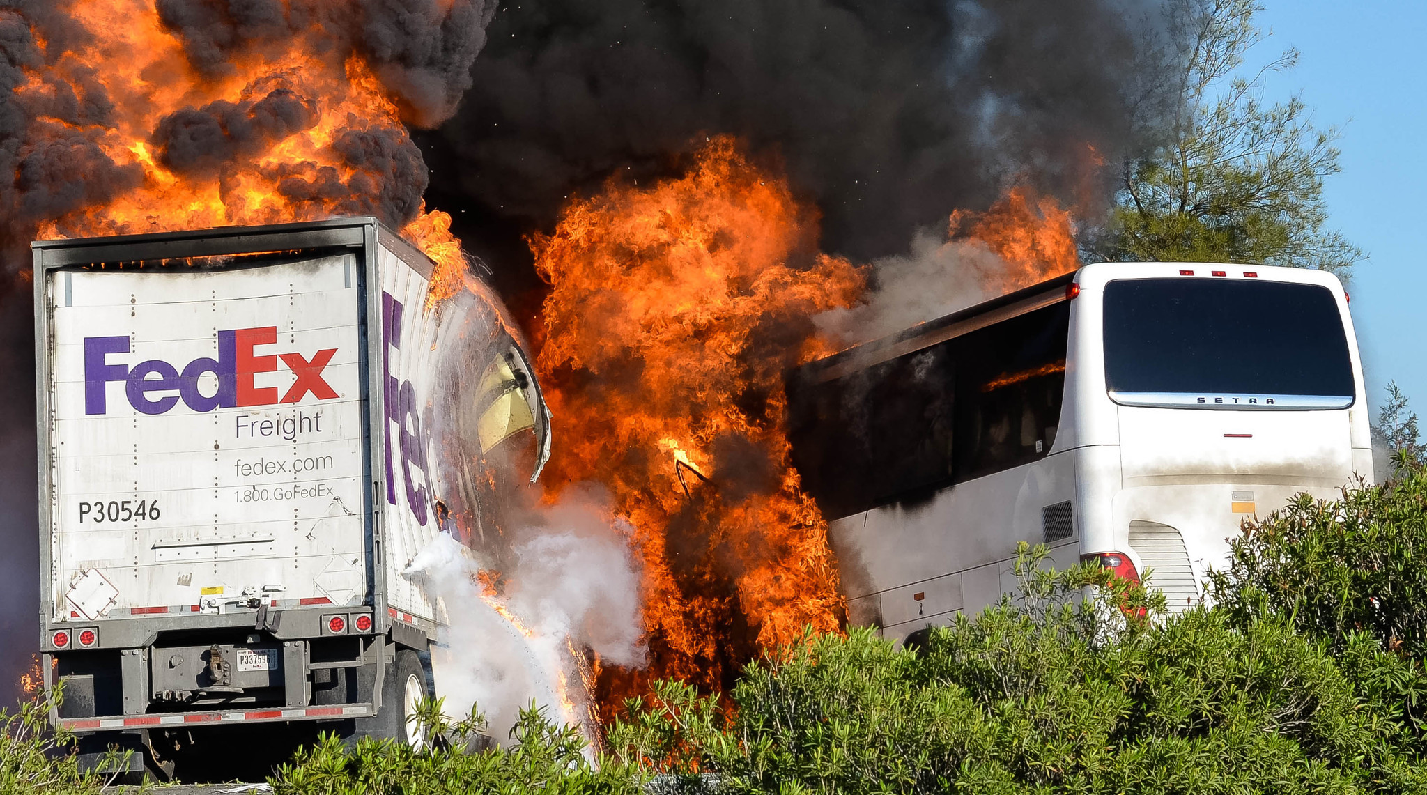 Most Orland bus crash victims died of smoke inhalation