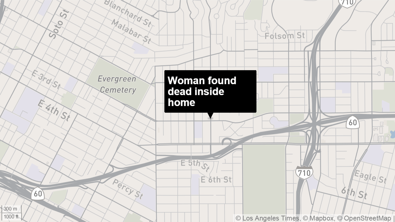 Sheriff's investigating death of woman found inside East L