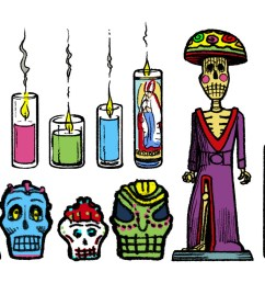 day of the dead clipart [ 1632 x 960 Pixel ]