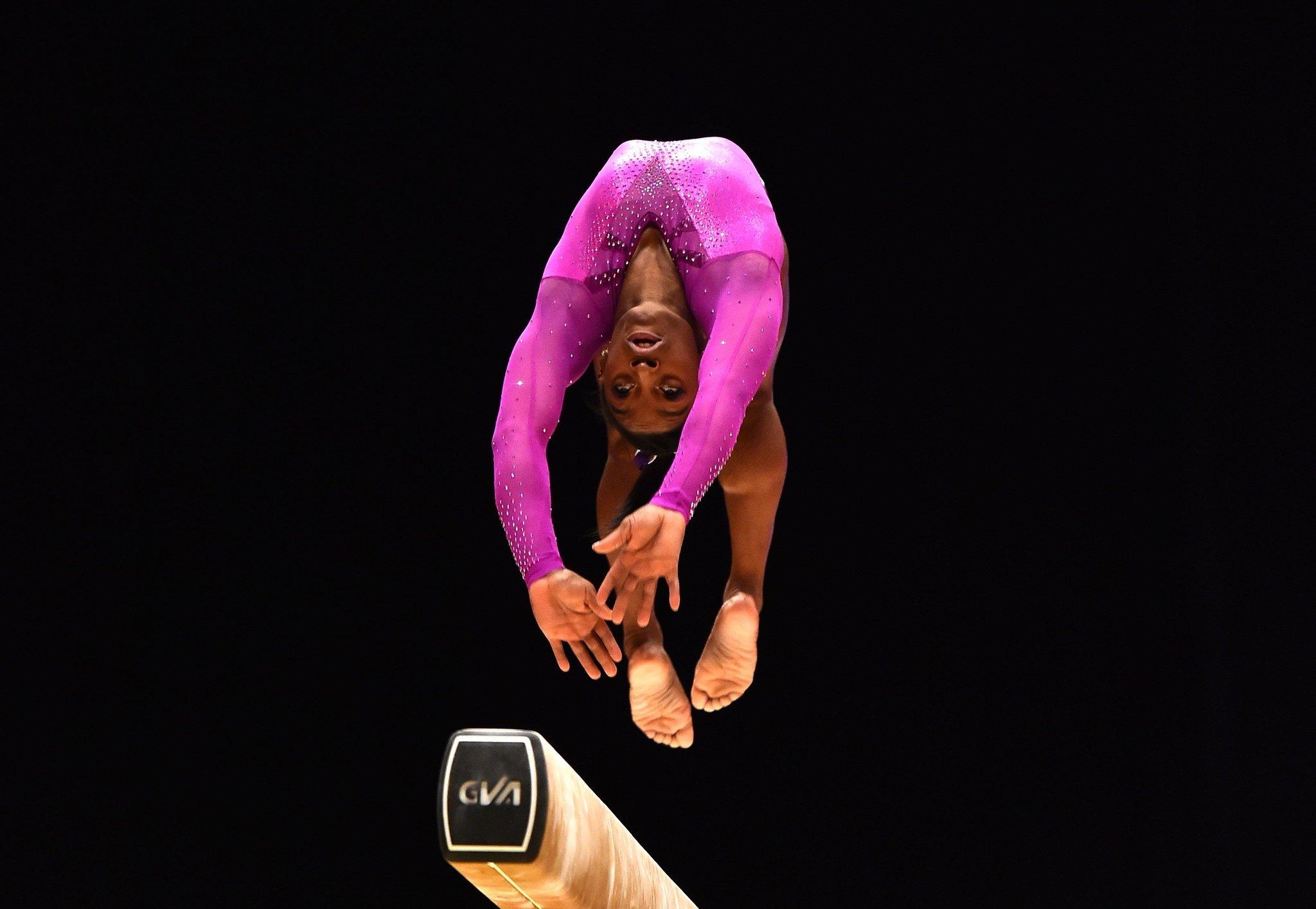Simone Biles earns record 10th world championship gold