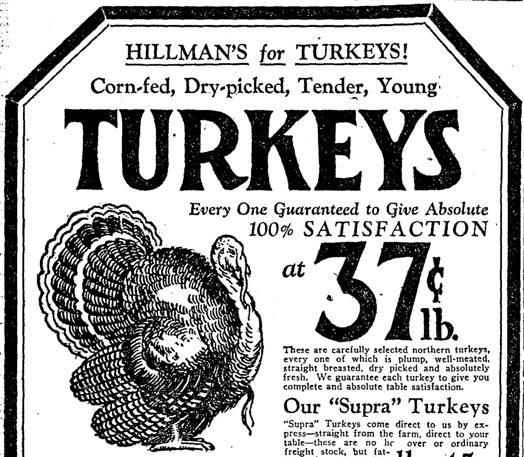 A century of Thanksgiving grocery ads (and turkey prices