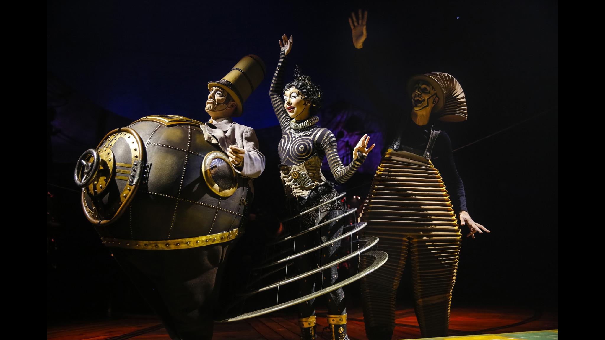 Photos of Cirque du Soleils show Kurios Cabinet of