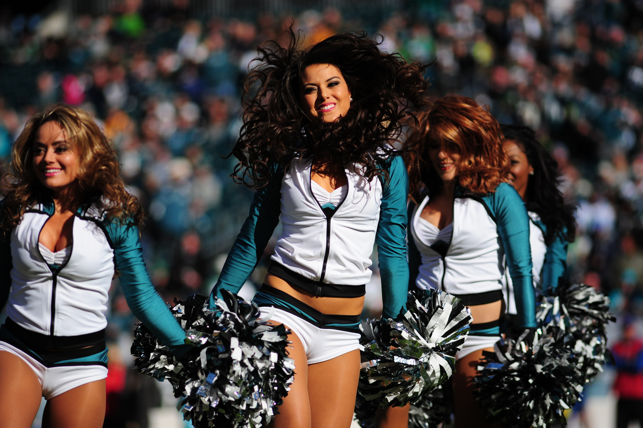 The Philadelphia Eagles Cheerleaders during the 2015