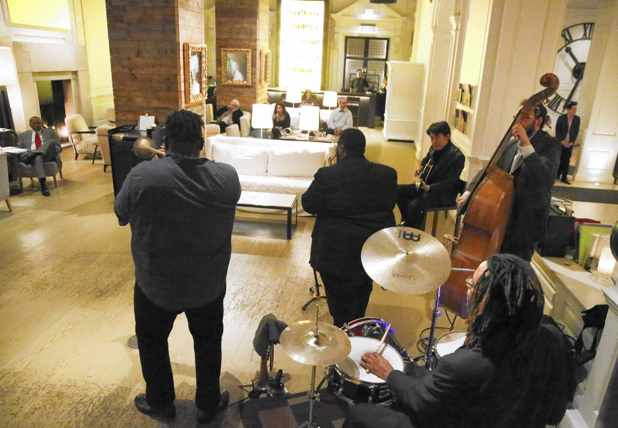 Jazz returns to the Pump Room  or at least a few steps