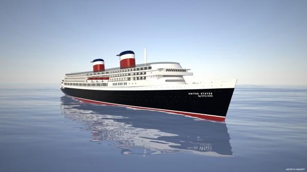 Long-retired Cruise Ship United States Sail - La Times