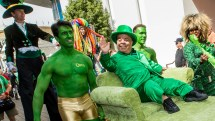 St. Patrick' Day In Las Vegas Brings Green Hunks And