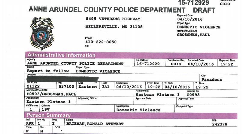 PDF Anne Arundel Police Report On Arrest Of Sheriff Ron