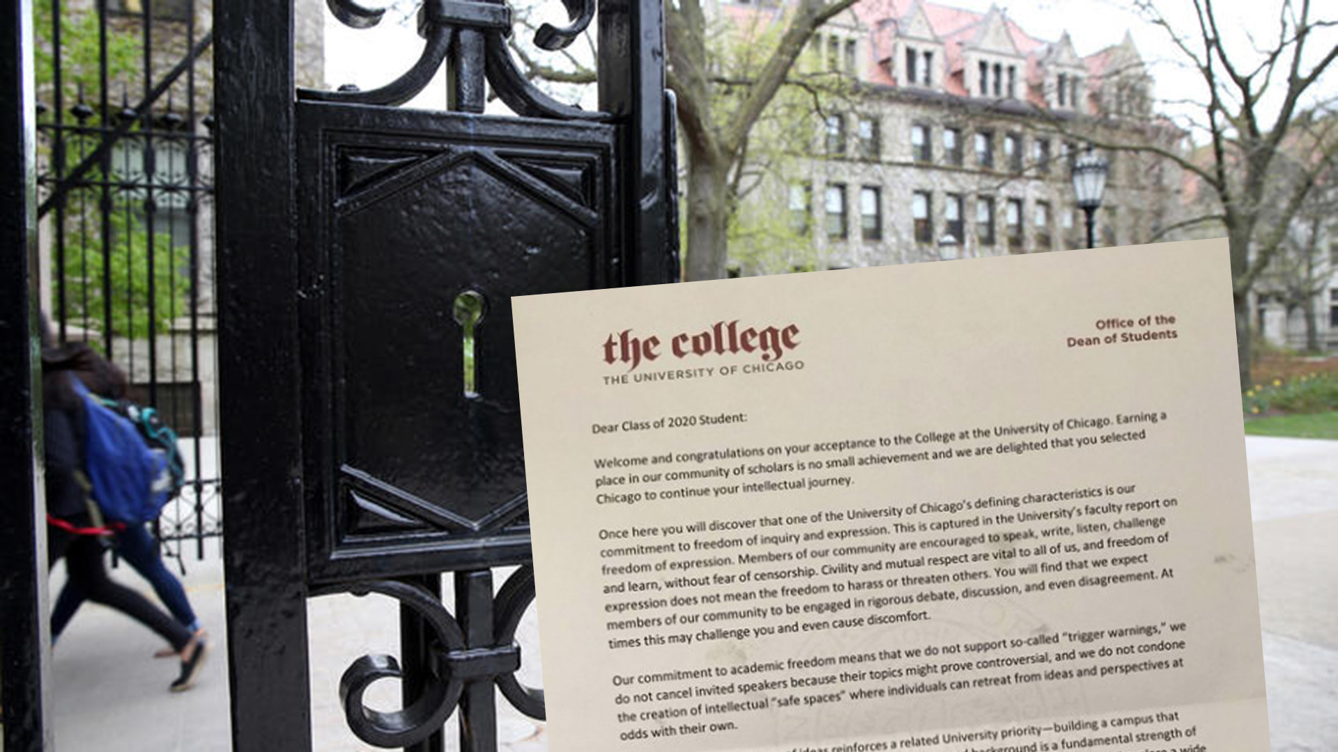 U. of C. tells incoming freshmen it does not support 'trigger ...