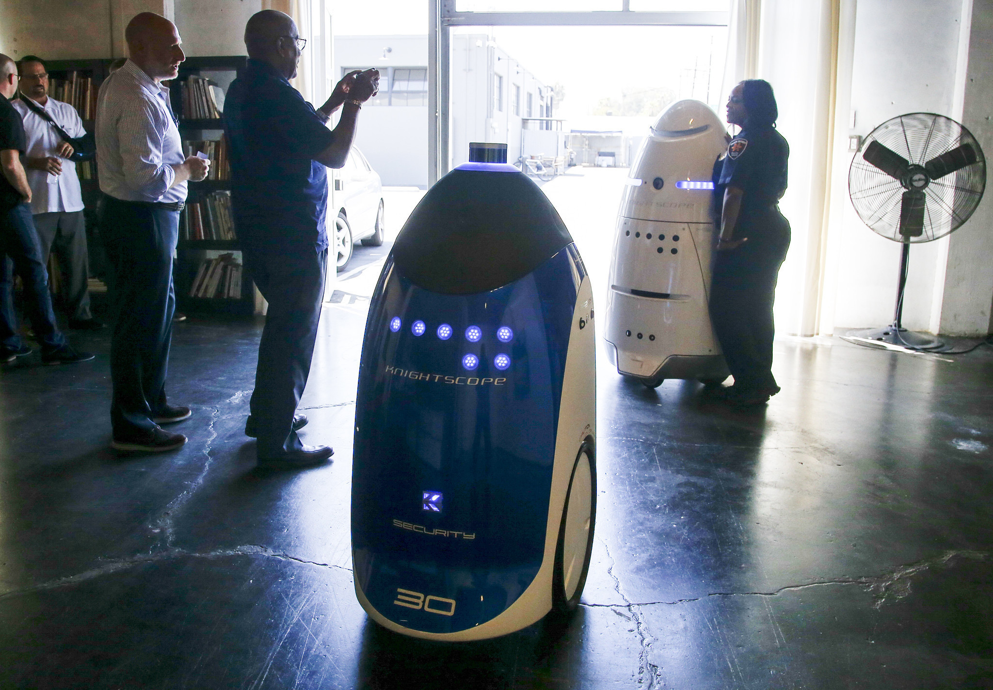 Robots are becoming security guards Once it gets arms