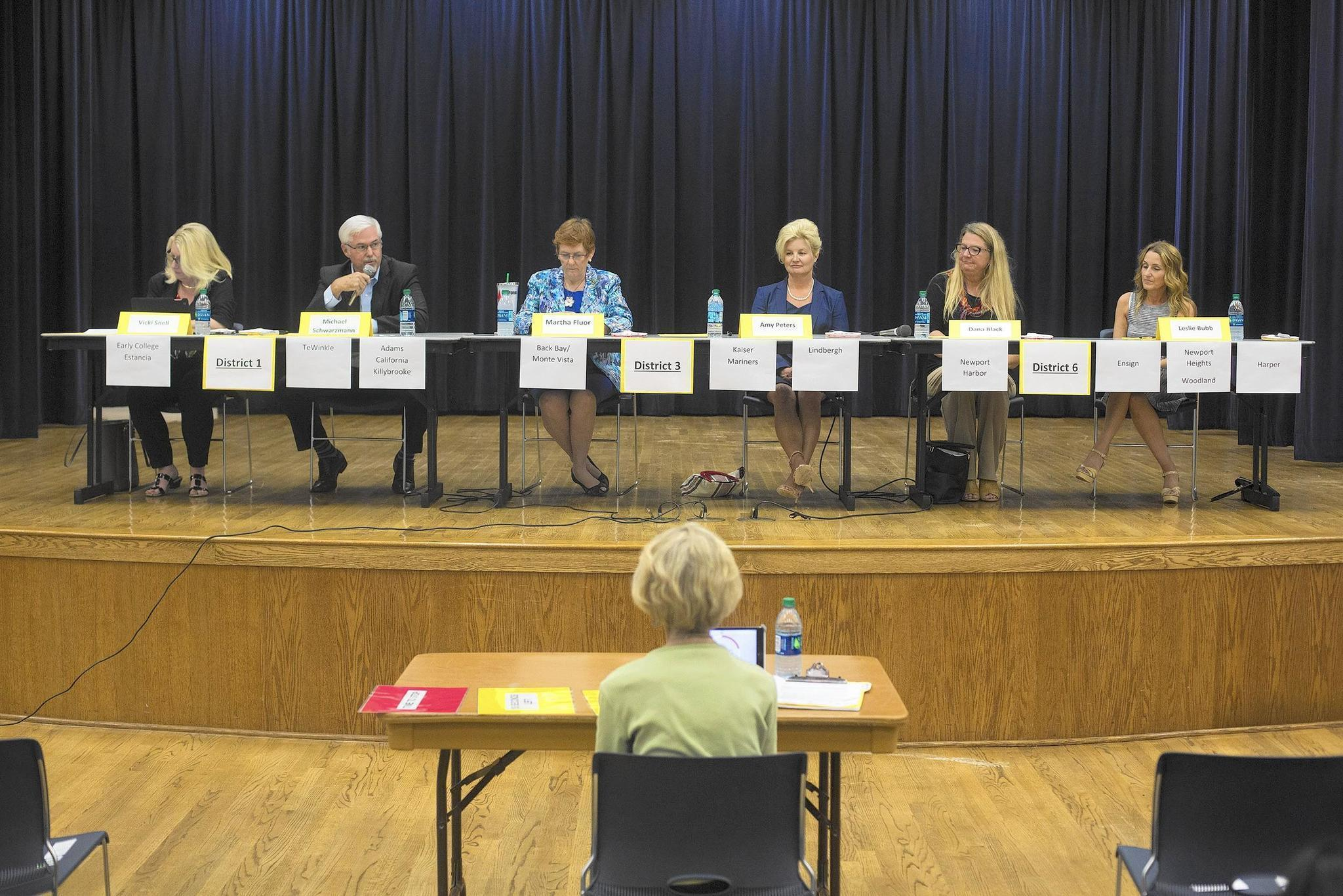 NewportMesa school board candidates field questions during forum  Daily Pilot