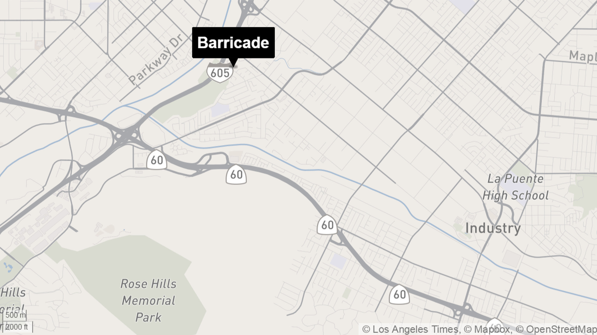 Barricade incident near City of Industry ends as suspect