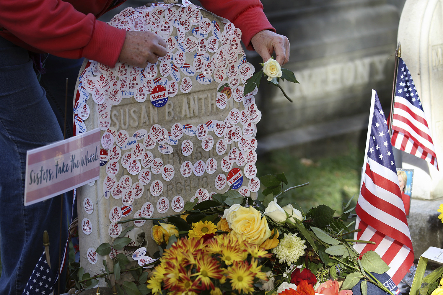 Steady crowd marks Election Day at Susan B Anthonys grave  Chicago Tribune