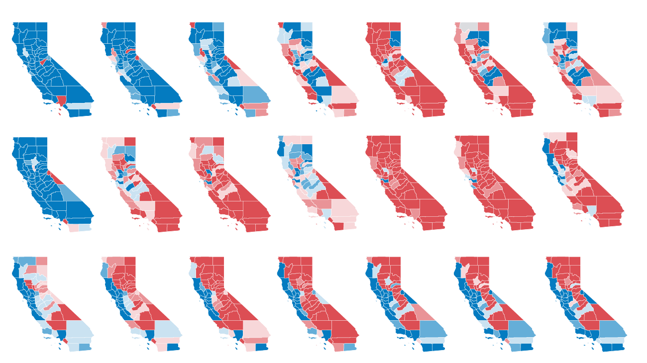 After Decades Of Republican Victories Here S How California Became A Blue State Again Los Angeles Times