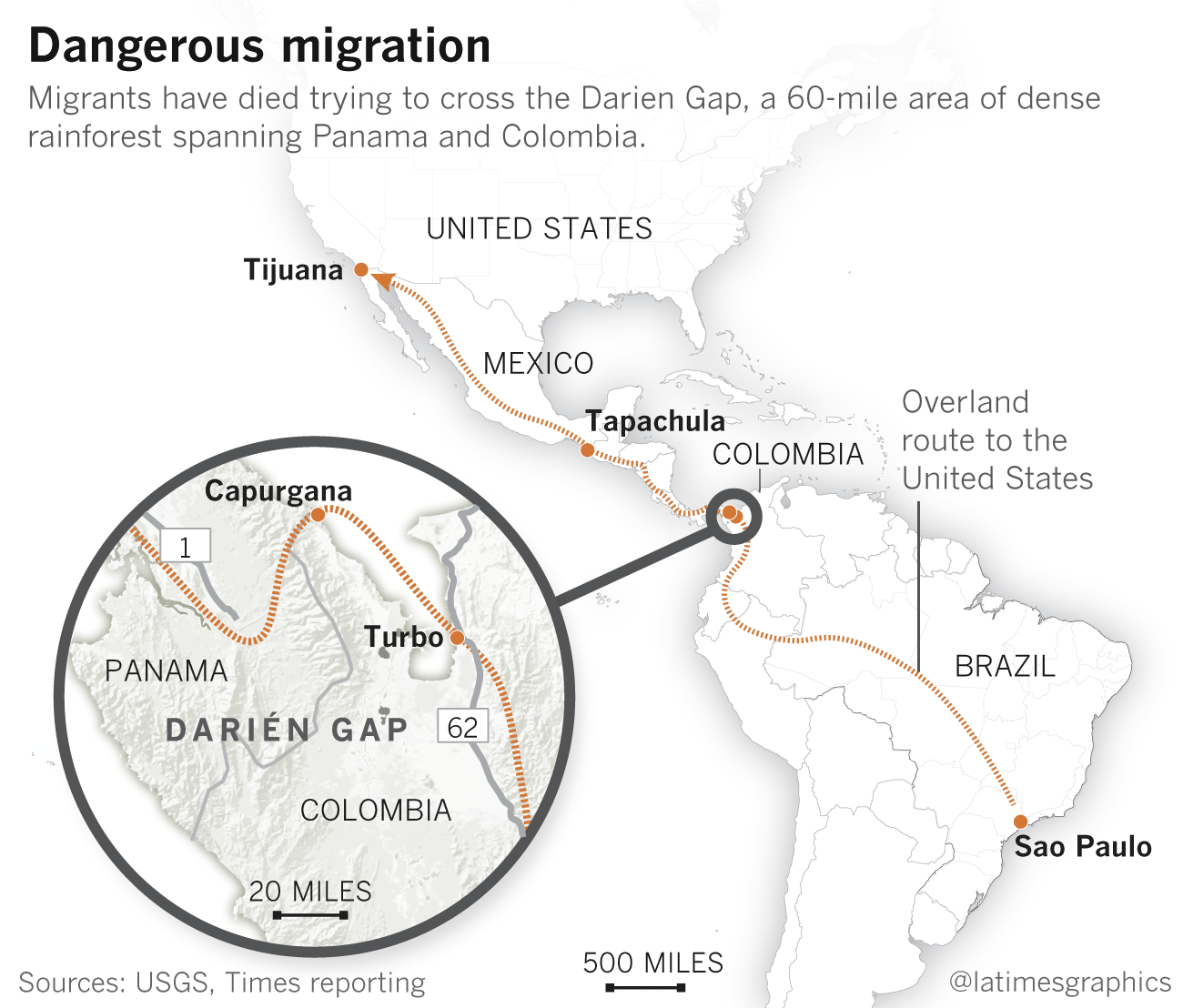 Crossing the Darién Gap: Migrants from around the globe