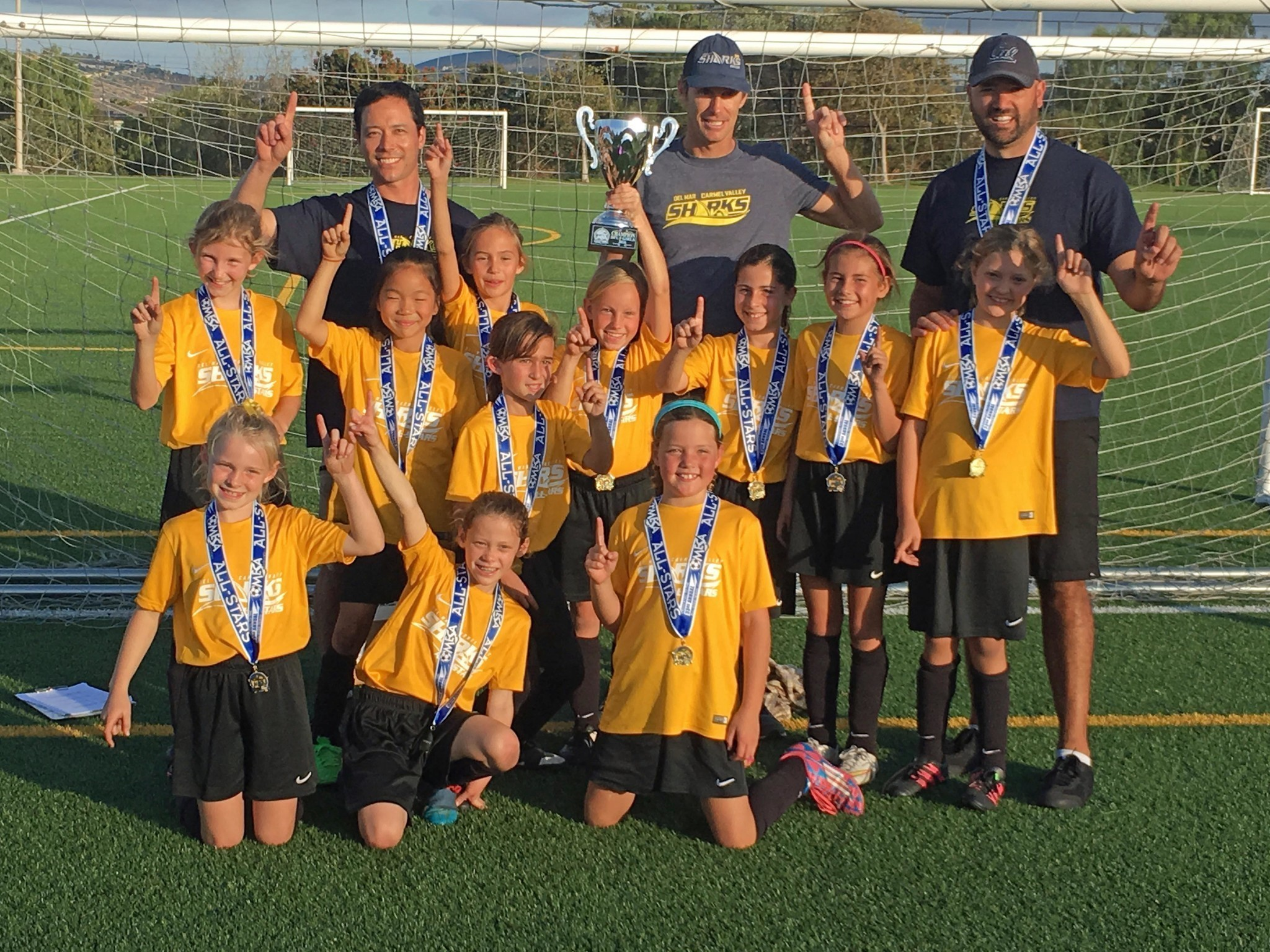 Del Mar Carmel Valley Sharks Gold AllStar team wins Mesa AllStar Soccer Tournament  Del Mar Times