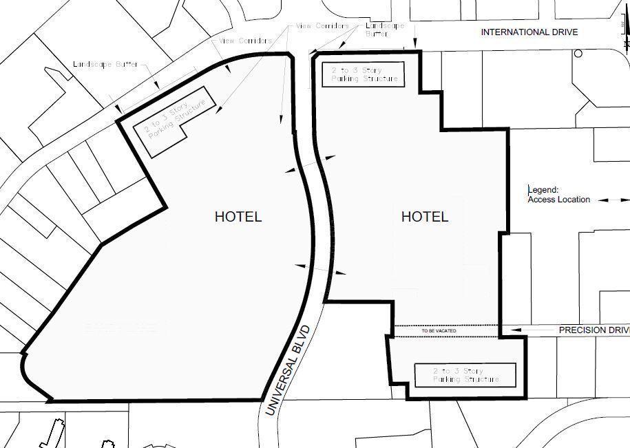 Universal files plan designating Wet 'n Wild land for