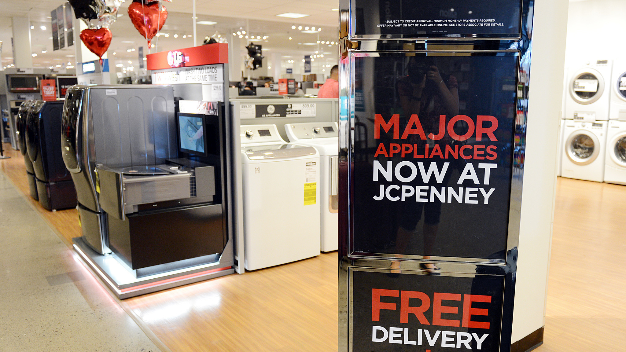 kitchen appliance stores countertop tile jcpenney in abingdon adds major showroom ...