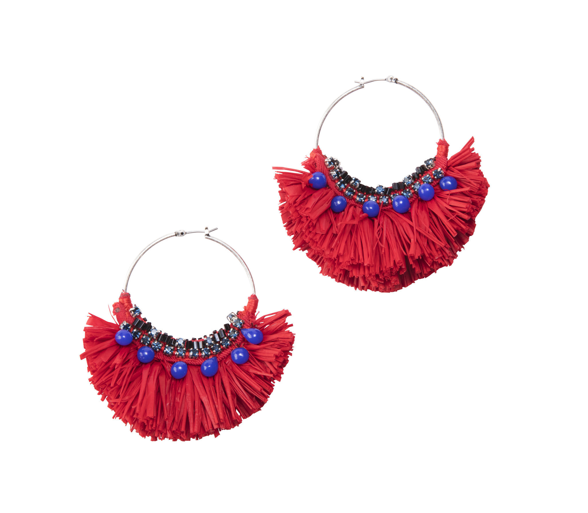 Fashion 5 Raffia earrings by Ann Taylor and more