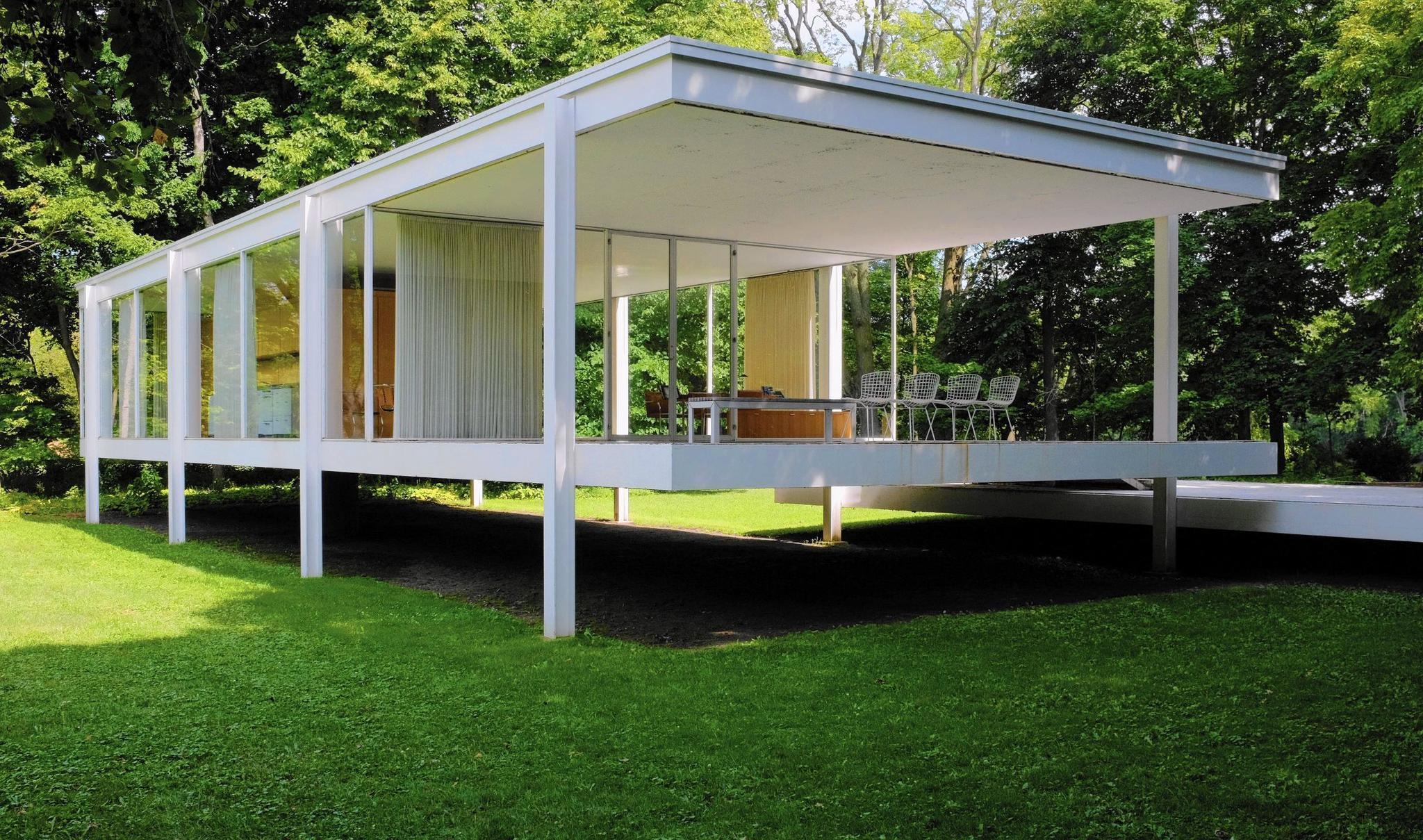 Casa Farnsworth En Revit