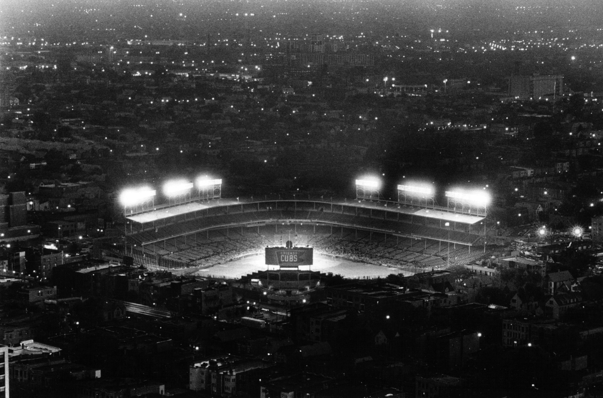 Vintage Wrigley Field From The Air Chicago Tribune