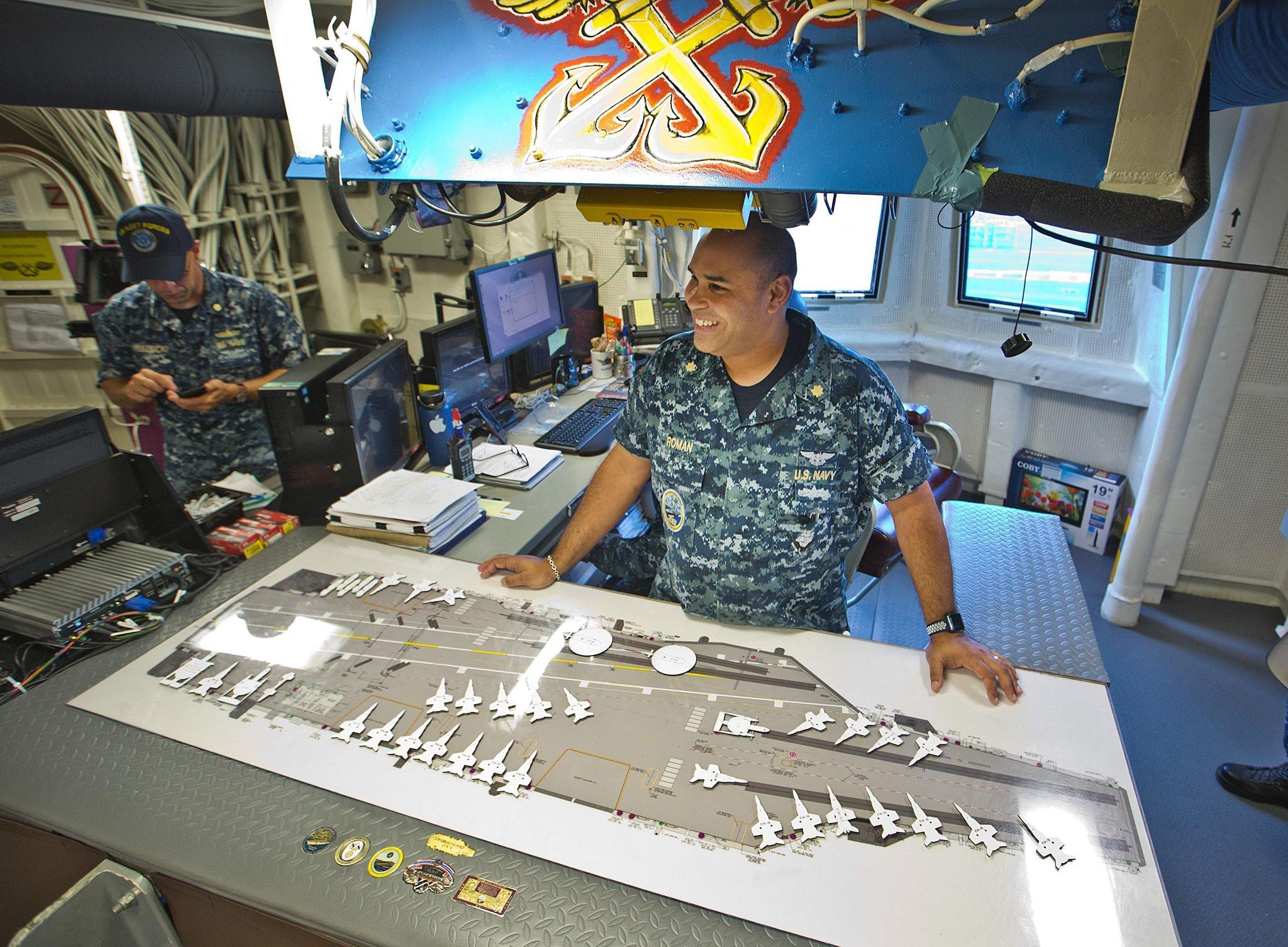 Sailors on newest aircraft carrier learned on the job