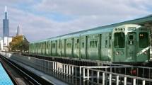 Chicago CTA Blue Line Train
