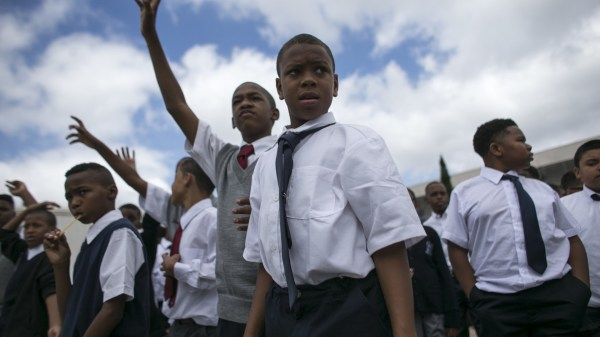 Day Of School Boys Academic Leadership