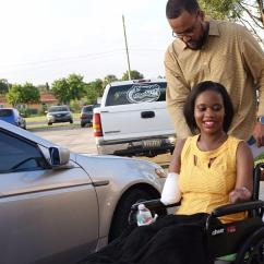Yellow Wheelchair White Rolling Desk Chair 'i Have No Fear': South Florida Woman Loses Her Baby, Arms And Legs During Pregnancy - Sun ...