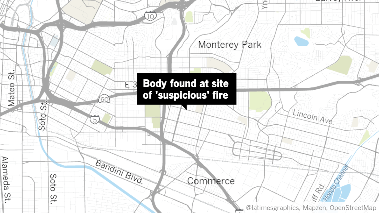 Authorities investigating 'suspicious' fire at East L.A