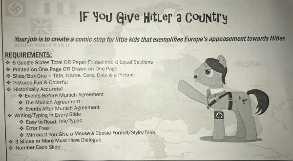 Hitler Comic-strip Assignment Supported Woodland School