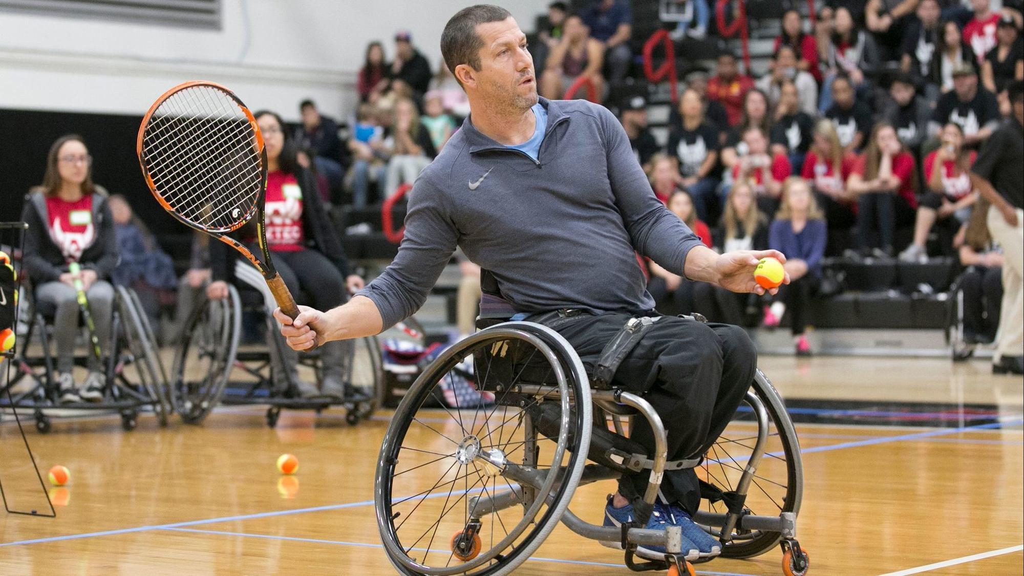 wheelchair volleyball x rocker gaming chairs adaptive athletes make full court press at sdsu the san