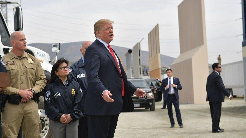 President Trump says without border wall were not going