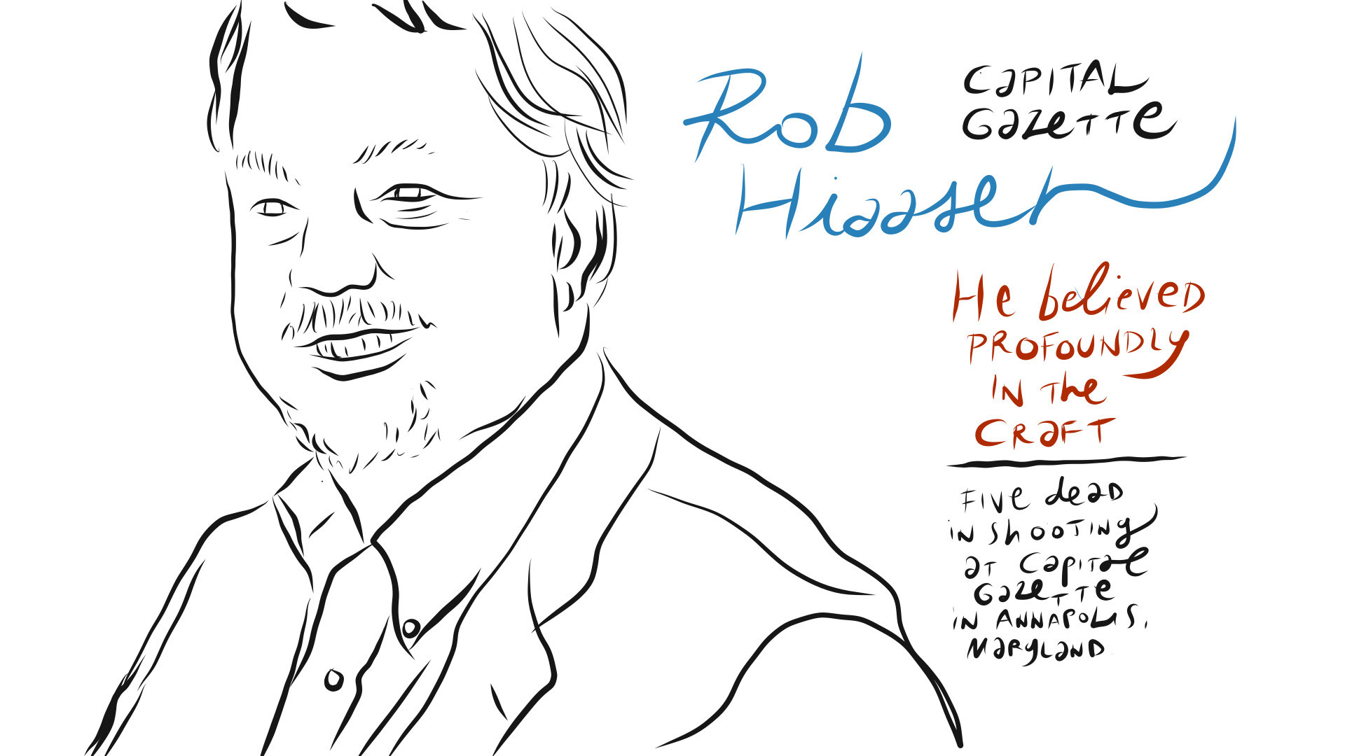 A graphic journalist's tribute to Capital Gazette shooting