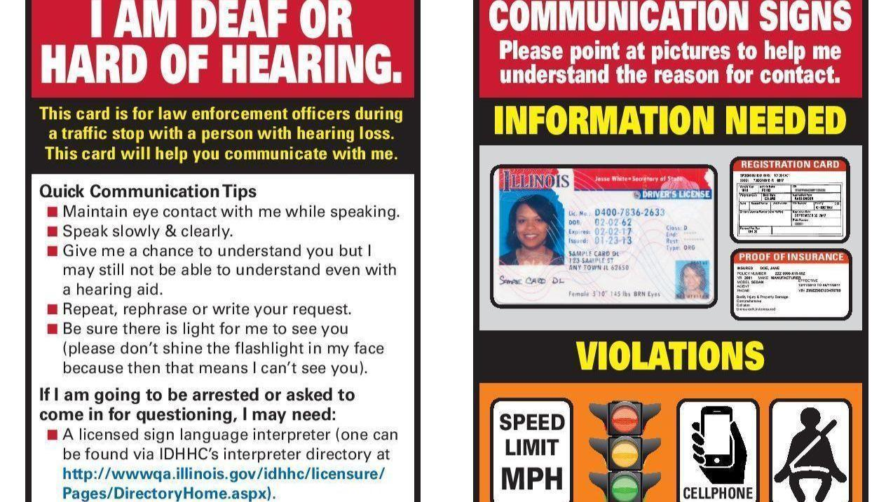 Buffalo Grove Police Answer Call In Community By Offering Special Id Cards  To Residents With Hearing Loss - Buffalo Grove Countryside