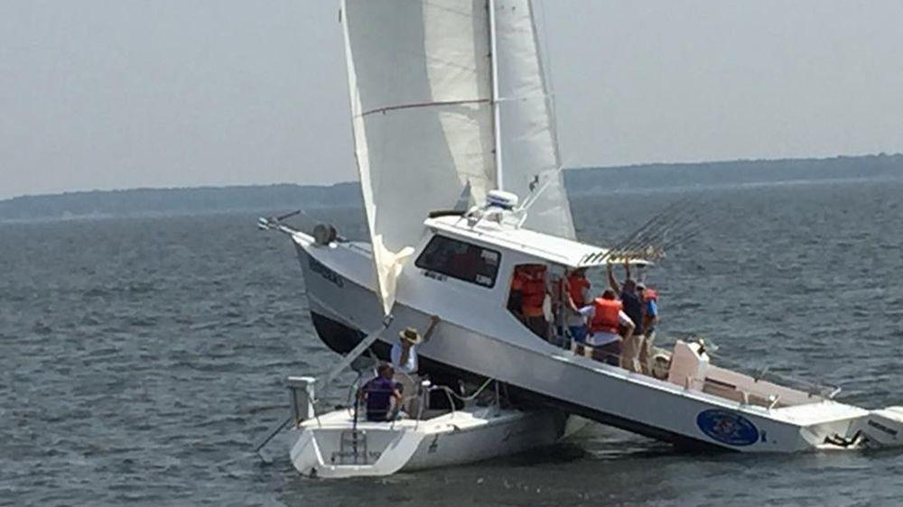 Nine survive boat collision in Chesapeake Bay  Capital