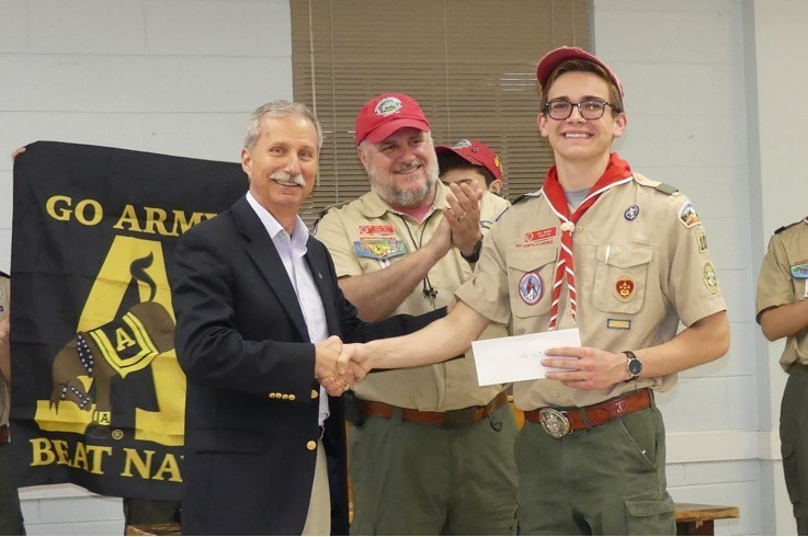 West Point Society Presents Donation To Bsa Troop 103